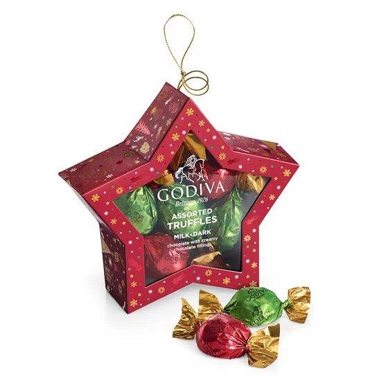巧克力圣诞星饰 10颗