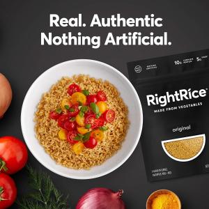 $15.99 一包只需$2.66RightRice 高蛋白蔬菜米饭 7oz 6袋