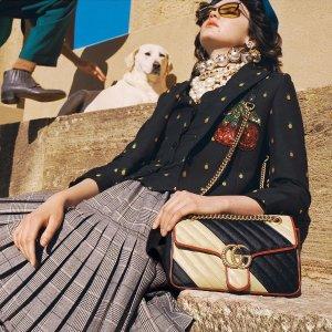 定价优势+额外9折 Marmont$747上新:Gucci 经典鞋包及配饰热卖 新款上衣$461