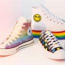1双9折 2双8折 3双7折手慢无:Converse Pride 彩虹系列帆布鞋上线 麦莉亲手设计