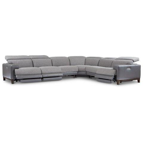 $111 好价拼手快逆天价:Madiana 时尚沙发组合套装6件套 含3个可调节电动躺椅