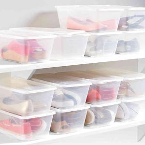 白菜价再降 仅$1.15/个实用有盖透明鞋盒 蜈蚣精必备收纳 还想再买30双