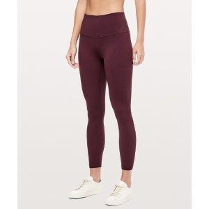 Lululemon红色瑜伽裤
