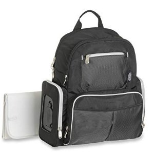 $25Graco Gotham Smart Organizer System - Baby Diaper Bag Backpack - Large, Roomy Bag with Wipeable Changing Pad - Black and Grey