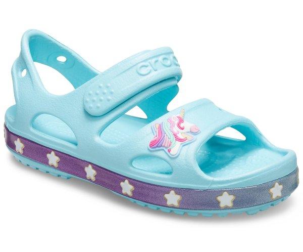 女孩独角兽凉鞋