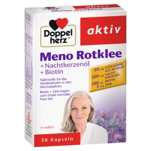 德国特效药:更年期必备Doppelherz Meno Rotklee双心牌红三叶草异黄酮胶囊30粒 1个月的量 全球直邮