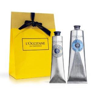 L'Occitane乳木果护手霜+磨砂膏
