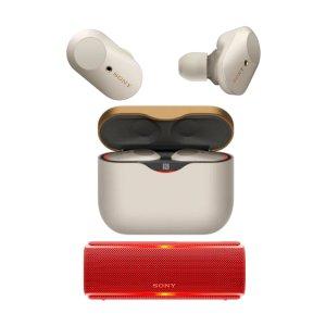 $228 包邮独家:Sony WF-1000XM3 降噪豆3代 + Sony SRS-XB21 蓝牙音箱