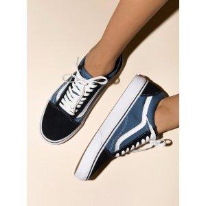 Vans Old Skool 海军蓝帆布鞋