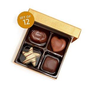 Godiva经典口味4粒装 金装 12盒