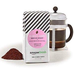 AmazonFresh Donut Café Ground Coffee, Medium Roast, 12 Ounce (Pack Of 3)