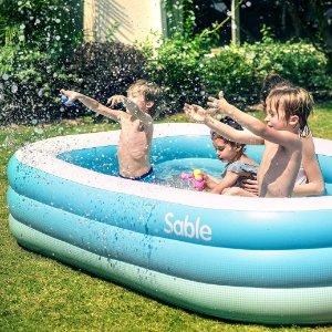 现价£35.99 (原价£44.99)史低价:Sable 家庭成人充气泳池热卖 夏日必备