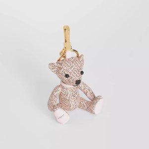 Burberry粉色钥匙链小熊