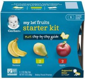Gerber My 1st Fruits Baby Food Starter Kit