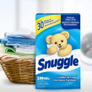 $1.59收20片白菜价:Snuggle 烘衣物必备,留香柔顺剂,满衣留香