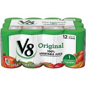 $6.48V8 Original 100% Vegetable Juice, 5.5 oz. Can, 12 Count