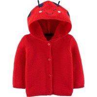 嬰兒針織瓢蟲連帽外套