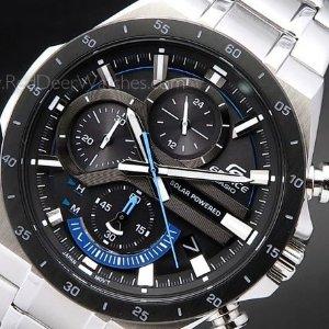 8.2折 $154.22(原价$188.3)Casio 不锈钢太阳能石英手表 迷人的精致