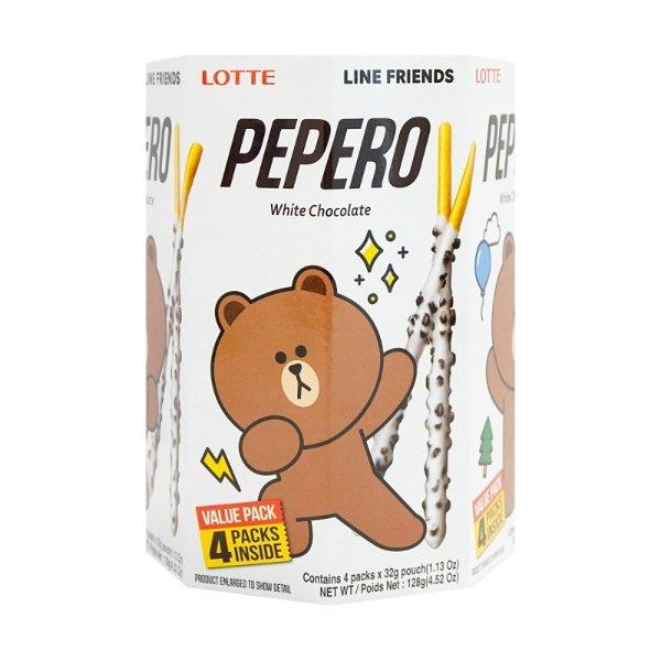 LOTTE乐天 PEPERO 白巧克力脆棒 128g