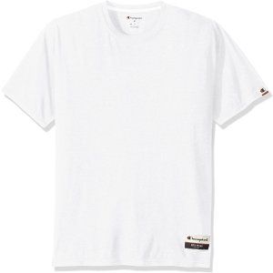 7.2折 $11.07(原价$15.36)白菜价:Champion 男士简约Logo T恤 M码