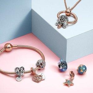 £51收爱心扣手镯Pandora 手镯、串珠、耳饰热促 爱心、米老鼠系列好价