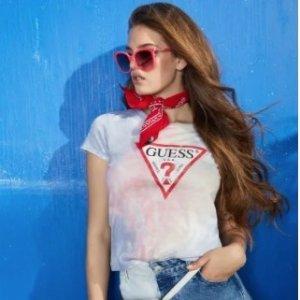 全场低至5折+精美好礼 $31收经典T恤Guess 春夏精美服饰热卖 收秀智同款牛仔裤