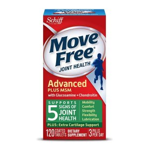 Move FreeBuy 1 Get 1 FreeSchiff Move Free Bone & Joint Supplement, Glucosamine Chondroitin + MSM, Tablets
