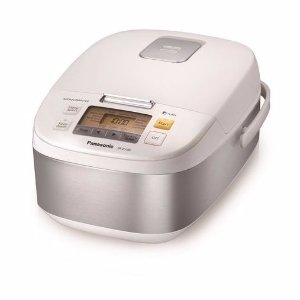 5 Cup Microcomputer Controlled Rice Cooker Stainless Steel/White - SR-ZG105