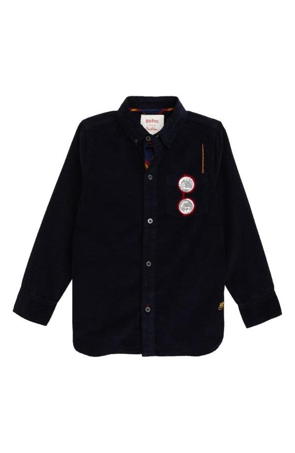 男童灯芯绒衬衫