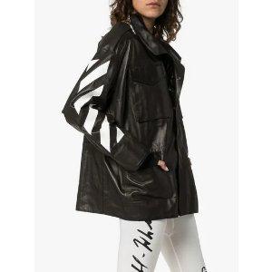 Off-White最高立减£500,变相75折经典款 Logo oversized 皮衣