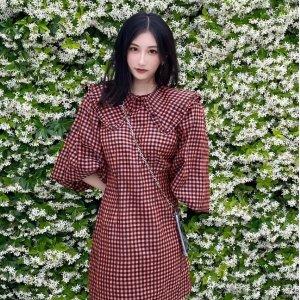 Ganni格子连衣裙
