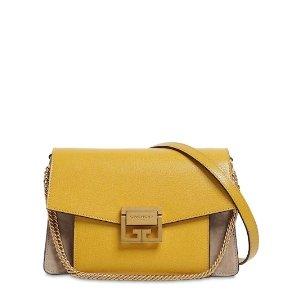GivenchyGV3 SMALL SWEDE AND LEATHER SHOULDER BAG