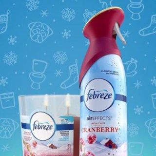 低至5.4折 £3入2瓶Febreze 空气清香喷雾 轻按一下 屋内芳香持久