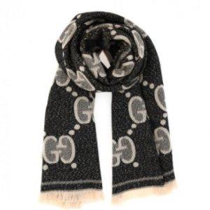 €229(国内价¥3300)Gucci 大双G logo双色羊毛围巾 变相5.6折