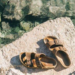 一律6折 €45就收清爽白色拖鞋Birkenstock 德国勃肯凉鞋 夏日清凉穿搭必备 舒适到不想脱