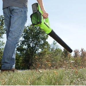 $59.73包邮(原价$123.17)史低价:Greenworks 24V 吹扫机、吹叶机 趁低价囤着不会错