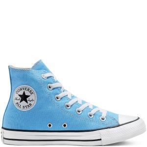Converse天蓝高帮帆布鞋