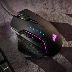 更换模块式设计 三区RGB背光2018游戏鼠标 海盗船 Glaive RGB