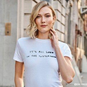 第二件$9.90 收超模、时尚博主同款Express官网 Cleo Wade x Karla 合作款T恤今日开售