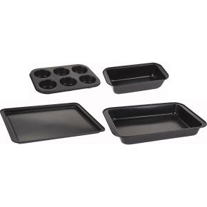 4件仅€13hibuy 烘焙模具4件套 含深/浅盘、吐司盘、蛋挞盘