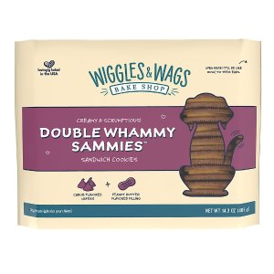 Bake Shop™ Double Whammy Sammies™ Dog Treat - Carob & Peanut Butter