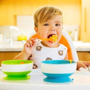 $9.97(原价$11.99)Munchkin 麦肯奇 宝宝吸盘碗 不含BPA辅食碗 3件套