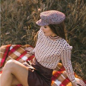 低至3折Molly Bracken 法国森系美衣 豹纹开衫$35 学院风短袖$45