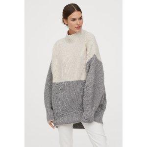 H&MOversized 高领毛衣