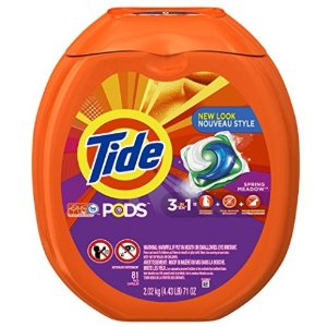 $15.99Tide PODS 3 in 1 HE Turbo Laundry Detergent Pacs, Spring Meadow Scent, 81 Count Tub