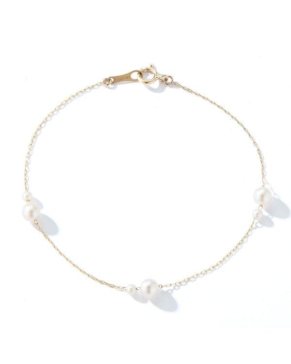 14k Gold Akoya 珍珠手链