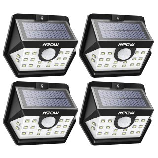 $24.99Mpow Solar Lights Outdoor, Bright 20 LED Motion Activated Lights with Wide Angle Lighting