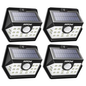 $31.99(原价$45.99)史低价:新一代 Mpow 20 LED太阳能防水感应灯(4个装)