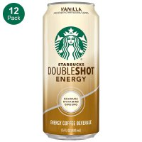 Starbucks 意式浓缩咖啡提神功能饮料 香草味 15oz 12罐