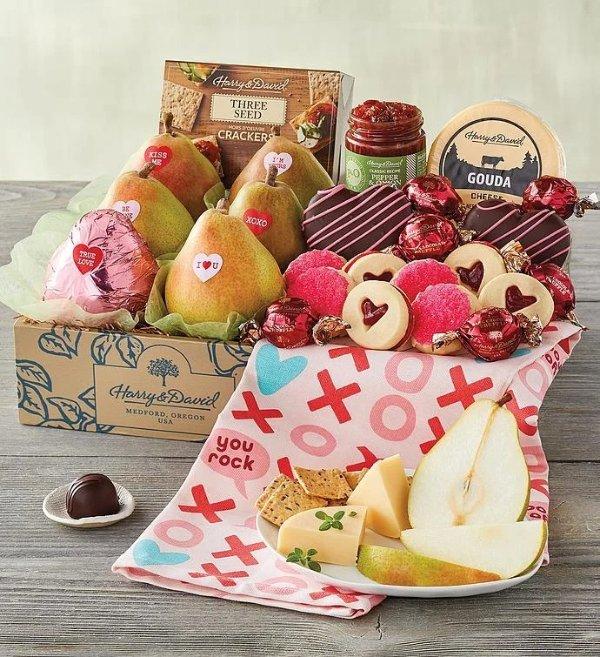 情人节巧克力水果零食礼篮
